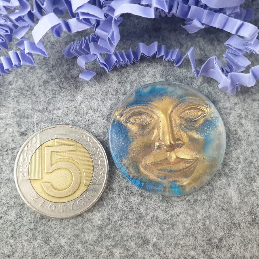 Żywica, twarz księżyca - sklep kamolce.pl