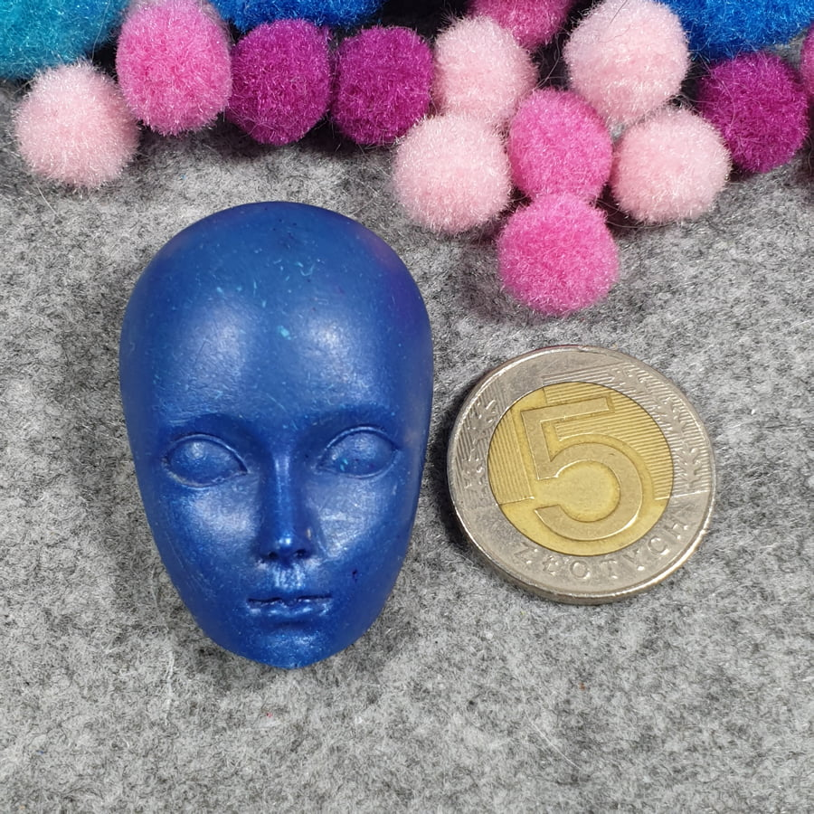 Element z żywicy do wyrobu biżuterii, głowa - sklep kamolce.pl