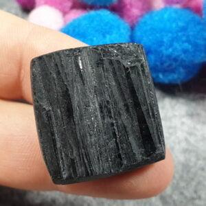 Czarny turmalin, kwadrat, plaster- sklep kamolce.pl