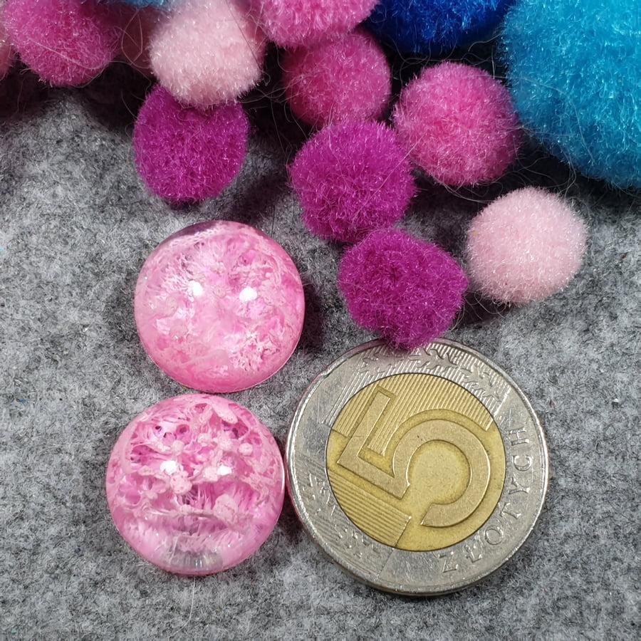 Żywica, kaboszon, okrągły, para - sklep kamolce.pl